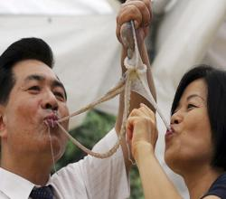 Koreans Thrive On Eating Live Octopus
