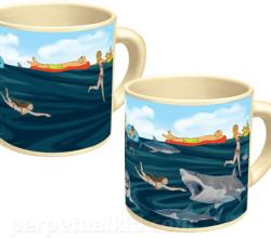 Shark Attack On A Mug