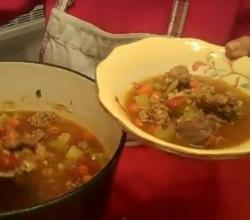 Italian Beef Soup from Rosalie Serving Italian Cookbook