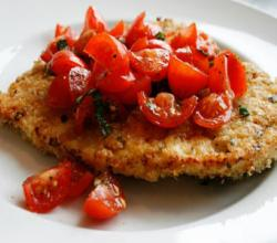 Italian Fast Food: Fried Turkey Cutlets with Tomatoes and Oregano