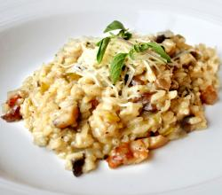 Italian Style Leek And Wild Mushroom Risotto 