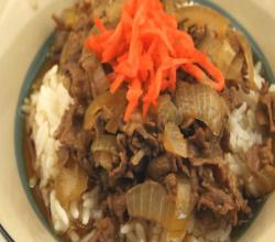 Japanese Gyudon (Thinly Sliced Beef On Rice)