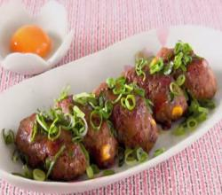 SPAM Pork Tsukune (Japanese Teriyaki Meatballs)