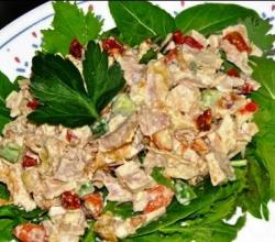 Jellied Chicken And Mushroom Salad