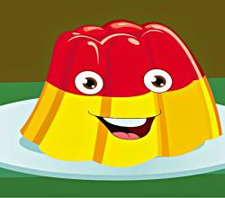 Jelly On a Plate Wibble Wobble Nursery Rhyme - Jelly On a Plate Poem with Lyrics