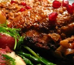 Jewish Honey Roasted Pomegranate Chicken