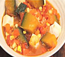Kabocha Ratatouille - Simmered Pumpkin and Vegetable Stew