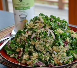 Quinoa-Kale Salad with Kefir-Cumin Dressing