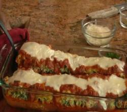 Lasagna Rolls with Turnip Greens & Italian Sausage & Better Homes and Gardens Cookware