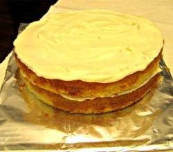 Lemon-Cream Sherbet Cake
