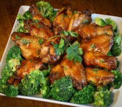 Lemon Ginger Sticky Wings