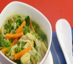 Lemon Grass Vegetable and Noodle Soup by Tarla Dalal