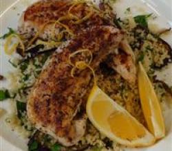 Lemon Garlic Chicken with Couscous