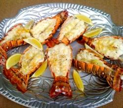 Lobster Tails or Sole with Macadamia Butter