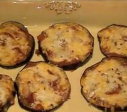 Grilled Low Carb Eggplant Pizza Bites