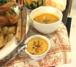 Low Cost Family Thanksgiving Dinner - Part I: Cooking Roast Turkey, Squash and Leek Soup and Winter Veggies