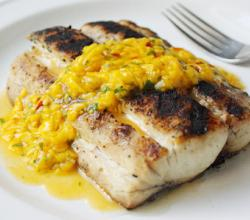 Mahi Mahi with Spicy Thai Mango Sauce