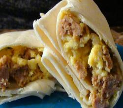 Make Ahead Scrambled Egg and Chorizo Burritos