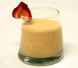 Mango Strawberry Lassi (Indian Yogurt Beverage)