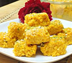 Mango Kalakand or Mango Burfi - Quick and Easy