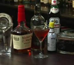 Manhattan Cocktail With Bitters