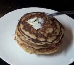 Maple Flavored Bacon Pancakes