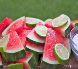 Margarita Soaked Watermelon Slices ~ Addictive