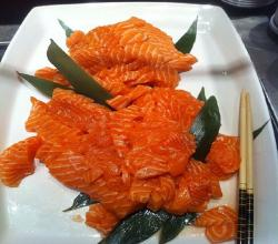 Marinated Salmon Sashimi