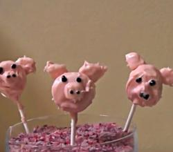 Marshmallow Pigs on a Stick Dessert Tutorial