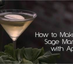 Martini with Sage and Apple Juice