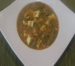 Matar Paneer : Indian Vegetarian Curry