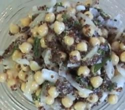 Mediterranean Chickpea and Quinoa Summer Salad.