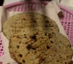 Methi Matar Bhakri or Paratha - Flavored Flat Bread for Breakfast