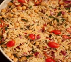 Minted Orzo with Nuts and Currants