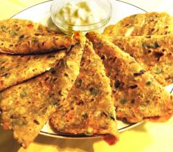 Indian Mixed Veg Paratha