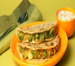 Mixed Vegetable Paratha by Tarla Dalal