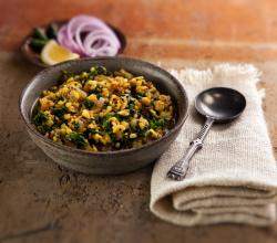 Yellow Mung Beans with Spinach –  Dal Palak
