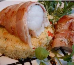 Monkfish Fillets Wrapped in Bacon