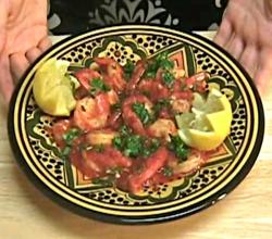 Moroccan Shrimp with Red Pepper Sauce