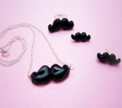 How to make mustache rings, earrings, necklaces and other accessories