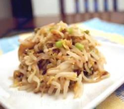 Korean Food: Mung Bean Sprout Side-dish (숙주 나물)