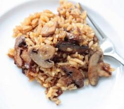 Rice Pilaf with Fresh Mushrooms