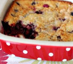 Nectarine Blackberry Cobbler