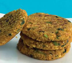 Oats Moong Dal Tikki (Healthy Snack) by Tarla Dalal