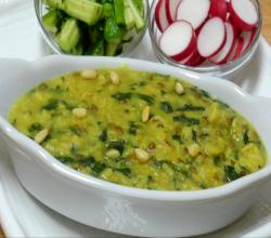 Oatmeal Khichdi- Oat, Lentil and Spinach Stew