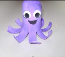 How to Make a Toilet Paper Tube Octopus