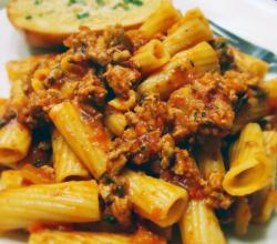 On The Road Turkey Bolognese On Rigatoni