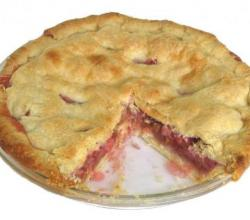 Orange Blossom Rhubarb Pie