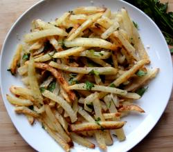 Microwave Herbed Potato Sticks