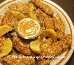Oven-Fried Crunchy Chicken Fingers